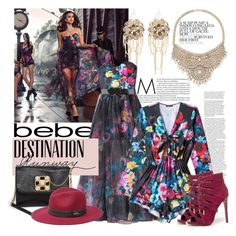 """""""Destination Runway with bebe : Contest Entry"""" by bklana ❤ liked on Polyvore featuring Bebe and beiconic"""