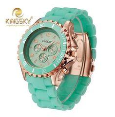 Quartz Watch Women Fashion Silicone Candy Casual Bracelet Watches Reloj Mujer Luxury Brand KINGSKY relogio feminino
