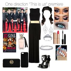 """""""1D this is us movie premiere"""" by tiffany-london-1 ❤ liked on Polyvore featuring River Island, Charlotte Tilbury, Stephen Webster, Kobelli, MICHAEL Michael Kors and Maison Takuya"""