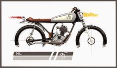 O que rola por ai: ML 125 Bratstyle by Gio Valezi | Garagem Cafe Racer