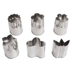"CHEESE and GARNISH CUTTERS: ""Set of Six Stainless Steel Food Prep Cutting Molds Japan"" (by House of Rice)  .. .. .. Available at Amazon.com for  $ 6.99 + 3.75 shp!"