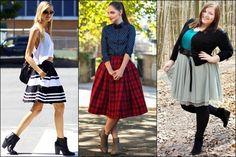 Ankle Boots with Full Skirt