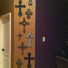 Wall of crosses....like Chari's :)