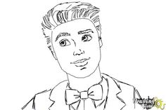 How to Draw Ken from Barbie: Life In The Dreamhouse - An easy, step by step drawing lesson for kids. This tutorial shows the sketching and drawing steps from start to finish. Another free Cartoons for beginners step by step drawing video tutorial. Barbie Drawing, Doll Drawing, Barbie Und Ken, Barbie Life, Drawing Lessons For Kids, Secret Life Of Pets, Free Cartoons, Ken Doll, Step By Step Drawing