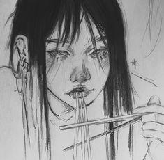 Kpop Drawings, Art Drawings Sketches Simple, Pretty Drawings, Sketchbook Drawings, Cartoon Art Styles, Anime Kawaii, Art Reference Poses, Pretty Art, Aesthetic Art