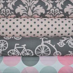 Bloom Bicycles 4-Fat Quarters Bundle for Michael Miller, 1 yard total