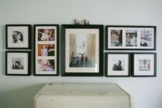 here is that cute wood family above a frame