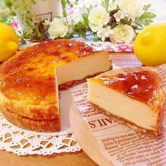 1番簡単♡ヘルシー&特濃♡お豆腐チーズケーキ!
