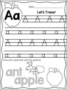 letter a worksheet Spelling Activities, Letter Activities, Preschool Activities, Kindergarten Language Arts, Kindergarten Classroom, Preschool Alphabet, Jolly Phonics, Teaching Letters, Letter Of The Week
