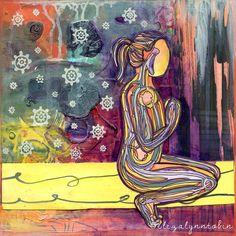 Yoga Art Kala Print by eliza lynn tobin
