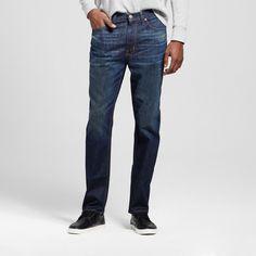 Men's Athletic Fit Dark Vintage Wash Jeans