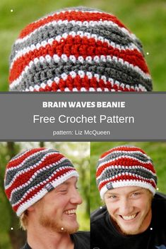 Brain Waves Beanie | MyCrochetPattern Crochet Hook Sizes, Crochet Hooks, Free Crochet, Crochet Symbols, Crochet Patterns, Half Double Crochet, Single Crochet, Brain Waves, Beanie Pattern