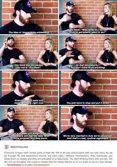#ChrisEvans on anxiety and depression