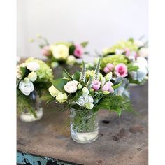 Small floral arrangements - perfect for a long table