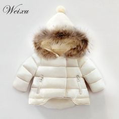 Amaping Winter Autumn 2018 Boys Solid Print Hooded Jacket Coat