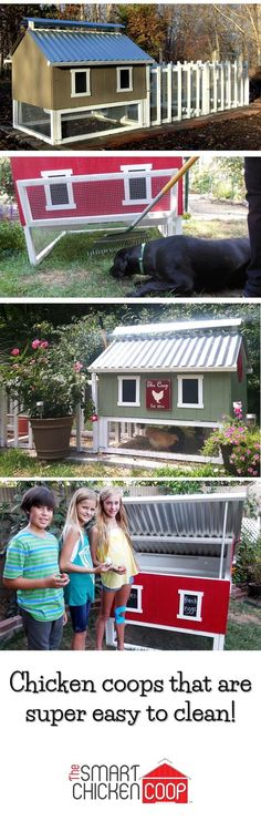These coops are made for busy people who love their backyards.They are cute and made in the USA using quality house-building materials. Better yet, their smart design cuts chores to twice a month, which saves so much time!