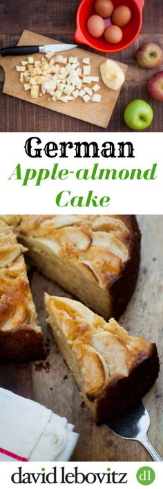 A delicious cake loaded with apples and almond paste, which makes this cake extra-moist. A recipe from Classic German Baking for the fall, and the holidays!