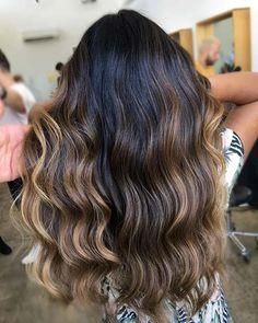 Light Balayage Highlights for Dark Brown Hair
