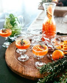 Blood orange and rosemary gin and tonic - the perfect cocktail for a stylish soirée.
