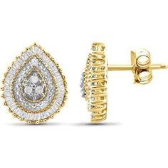 teardrop diamond earrings - Google Search