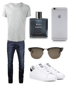 """Untitled #46"" by wleners on Polyvore featuring Jack & Jones, Orlebar Brown, adidas Originals, Tom Ford, Chanel, Native Union, men's fashion and menswear"