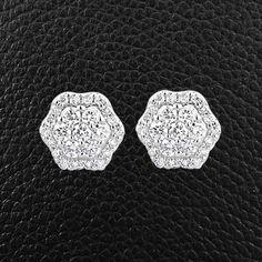 Multi-Diamond Hexagonal Earrings – CRAIGER DRAKE DESIGNS®