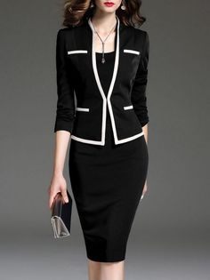 Office Outfits, Office Wear, Casual Office, Office Uniform, Stylish Office, Spring Dresses, Dresses For Work, Autumn Dresses, Dresses Dresses