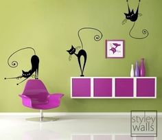 Hey, I found this really awesome Etsy listing at https://www.etsy.com/listing/57222025/set-of-3-naughty-cats-vinyl-wall-decal