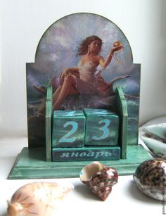 Календари ручной работы. Ярмарка Мастеров - ручная работа вечный календарь Золотая рыбка. Handmade.
