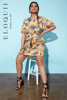 View our Printed Mock Neck Dress and shop our selection of designer women s  plus size Dresses fb0fb7d4e