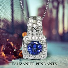 Gorgeous #Tanzanite #Pendant. Buy online and make it own.
