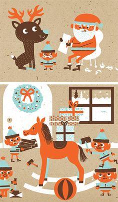 Sad Santa - illustration 1 - work - tad carpenter