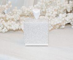 Silver Glitter Favor Box - Sparkling Favor Box - Wedding Favor Boxes - Birthday Candy Box - Cupcake Boxes - 10 boxes