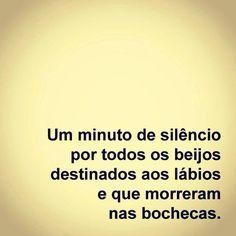 Um minuto de silêncio, por favor