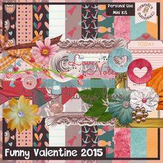 Digiscrap Freebie - FREE Brandi's Creations: Funny Valentine