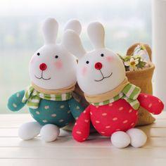 DIY sock doll kits: a couple of rabbits