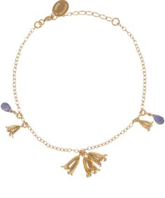 Alex Monroe Gold-Plated Bluebell Bracelet | Jewellery by Alex Monroe | Liberty.co.uk