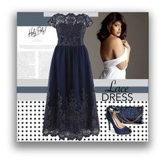 """Lace Dress - Plus Size"" by plussizefashionista ❤ liked on Polyvore featuring STELLA McCARTNEY, Nina, plus, plussize, lacedress and plussizefashion"