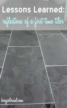 Lessons Learned from our First Time Tiling: Black Slate Tile in the Master Bath