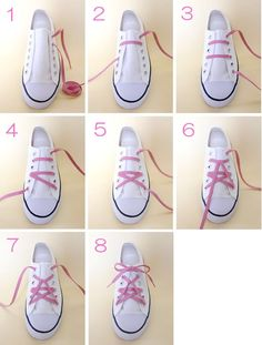 Best ideas of lacing your shoes. Amazing and easy latice tehniques to tie the shoes. Learn 10 different ways of lacing your shoes perfectly. Ways To Lace Shoes, How To Tie Shoes, Ways To Tie Shoelaces, Creative Shoes, Creative Ideas, Hand Painted Shoes, Star Shoes, Trendy Shoes, Diy Clothing