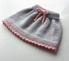 Baby skirt knitted baby skirt merino wool skirt gray and pink skirt MADE TO ORDE . Baby skirt knitted baby skirt merino wool skirt gray and pink skirt MADE TO ORDER - Baby Girl Skirts, Baby Skirt, Baby Dress, Knitting For Kids, Baby Knitting Patterns, Hand Knitting, Knitting Wool, Rosa Rock, Crochet Baby