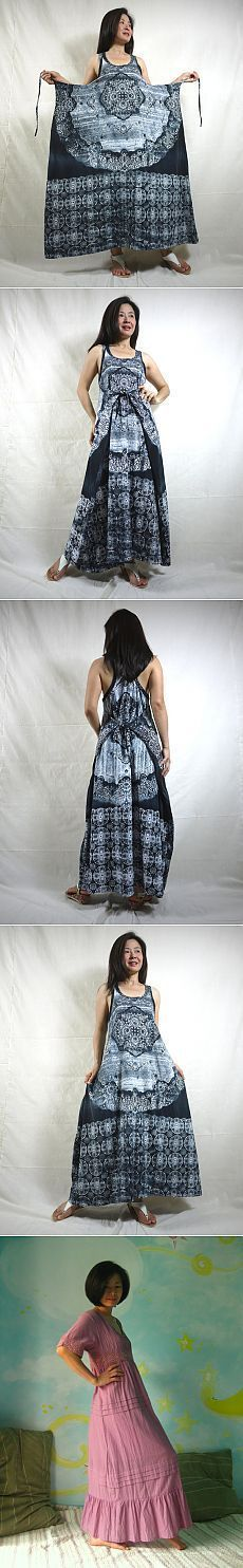 Neat simple dress idea - basically a sheet with ties attached to the top of a tank top or whatever you want