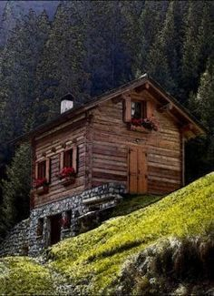 Small low cost economical 2 bedroom 2 bath 1200 sq ft for Mountain cabin plans hillside