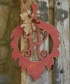 Look what I found on #zulily! Unfinished Leaf Initial Wall Art by Unfinished Wood Co. #zulilyfinds