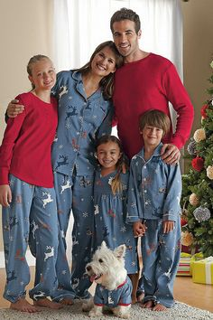 Reindeer Plaid Family Pajamas - what do you say DJ?