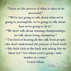 nick saban quotes on success - Google Search