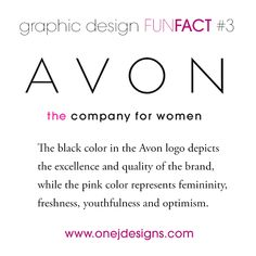Graphic Design Fun Fact #3 The meaning behind ‪#Avon‬ color choice for their logo.