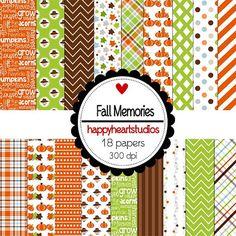 Digital Scrapbooking Fall Memories by azredhead on Etsy, $2.00