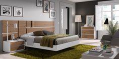 Gráfika bedrooms COMP / 026 Blanco lacado / Nogal