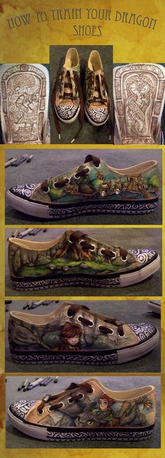 Incredible How To Train Your Dragon shoes... WANT